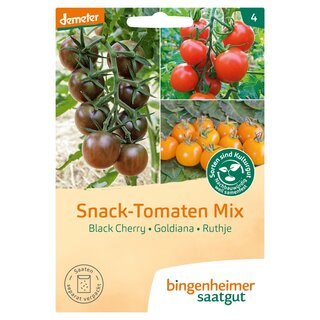 Bingenheimer Seeds Snack Tomatoes Mix demeter organic for 5-7 plants each type