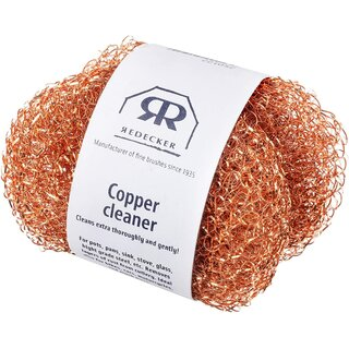 Redecker Copper Pot Cleaner made of copper wire mesh 2 pcs.
